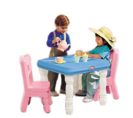 sc 1 st  QVC.com & Little Tikes Tender Heart Table u0026 Chair Set u2014 QVC.com