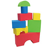 Edushape 32-Piece Big Edu-Foam Colored Block Set - T128961