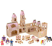 Melissa & Doug Folding 19-Piece Princess CastleSet - T127565
