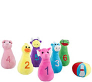Hey! Play! Kids Bowling Set with Six Plush Animal Pins & Ball - T129065