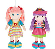 Lollipop Kids Set of 2 20 Soft-Bodied Dolls - T35067