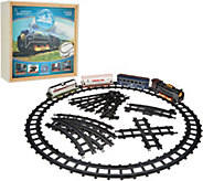 Holiday Express Railroad Train with Adjustable Track, 27 piece & Wooden Box - T35270