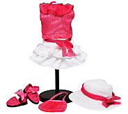 The Queens Treasures 18 Doll Pink & White Complete Outfit - T128471