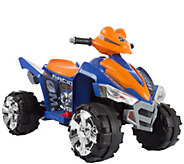 Lil Rider Battery-Operated Ride-On Quad in Blue & Orange - T128671