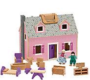 Melissa & Doug Fold and Go Dollhouse - T127575