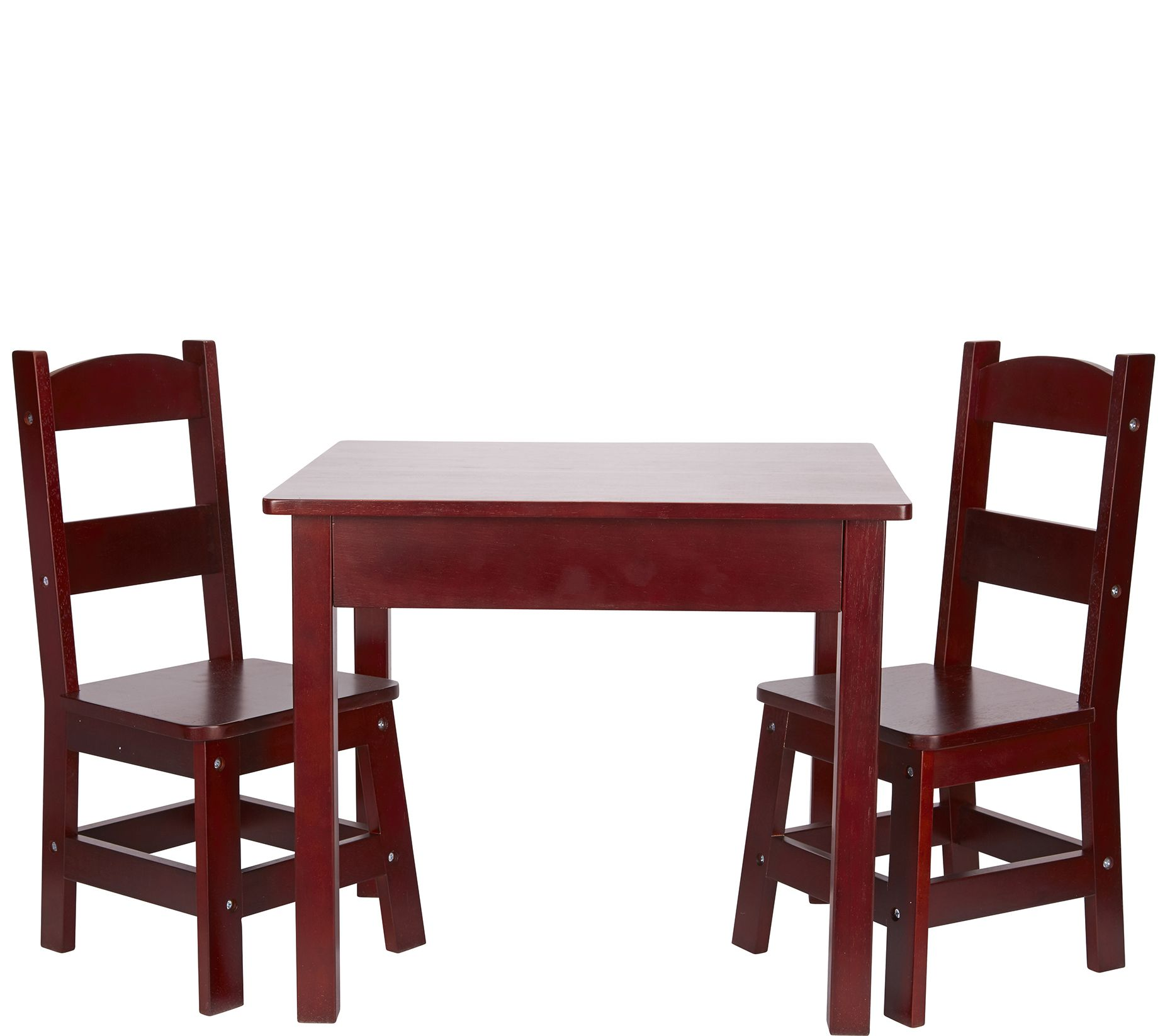 Melissa Doug Wooden Table Chairs QVC