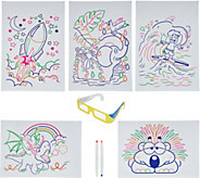 Glow Pad Activity Set with Markers, Illustrations & 3D Glasses - T35675