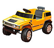 6V Yellow Hummer Battery Operated Ride-On - T123182