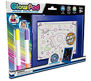 Glow Pad with 4 Neon Markers & 8 LED Light Modes - T128583