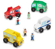Melissa & Doug Community Vehicle Set - T127785