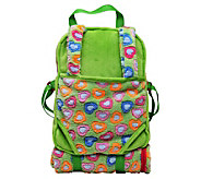 The Queens Treasures Green Childs Backpack with Doll Carrier - T128985