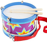 Hey! Play! Double-Sided Toy Marching Drum and Drum Sticks - T127893