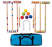 Hey! Play! Wooden Outdoor Deluxe Croquet Set - T129093
