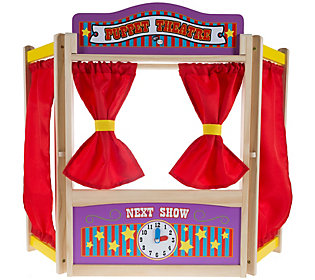 Hey! Play! Wooden Tabletop Puppet Theater