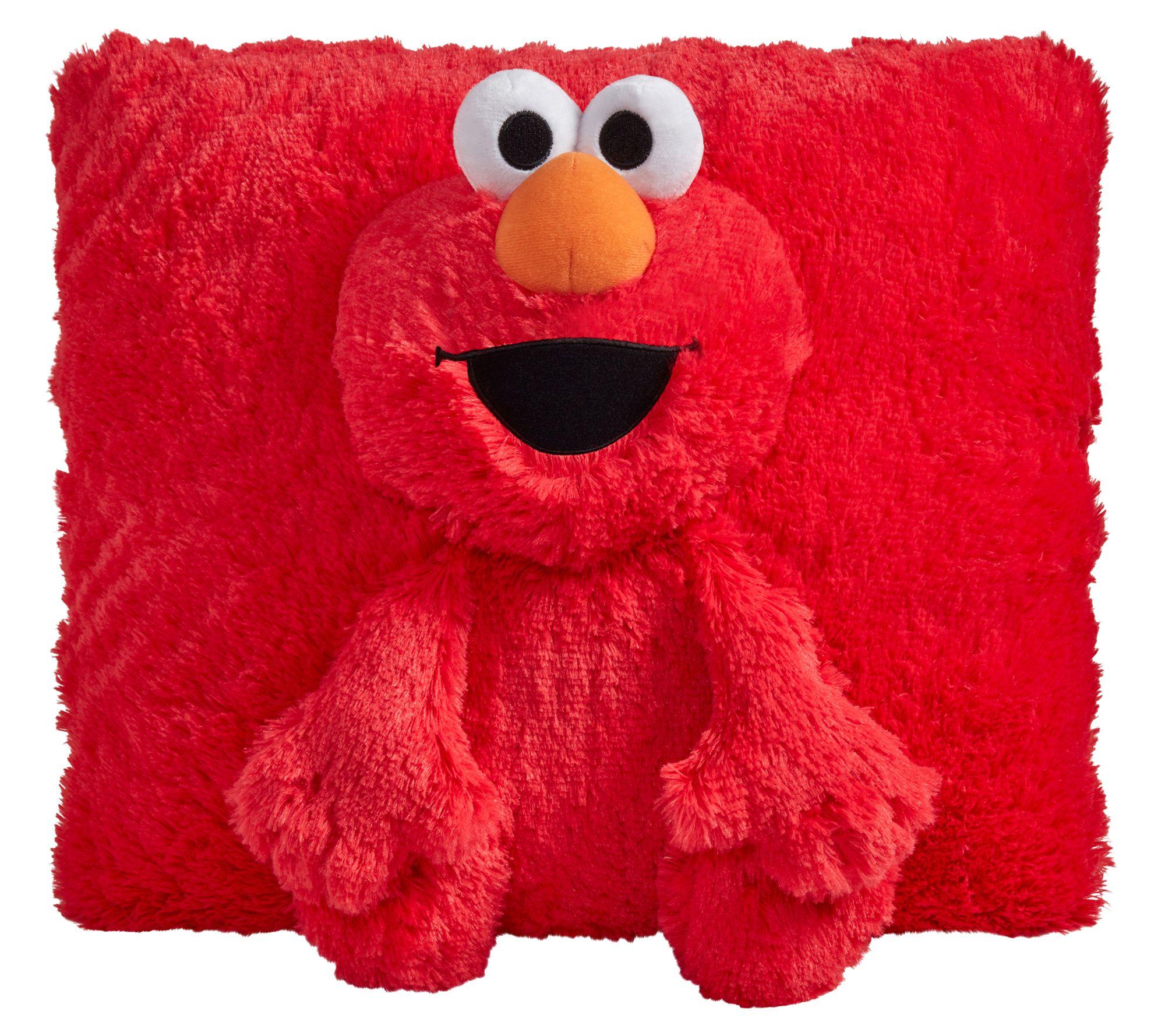 Pillow Pets Sesame Street Elmo Stuffed Animal Plush Toy Qvc Com