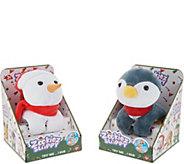 Zookiez Set of Two Wrap Around Holiday Plush Friends - T35598