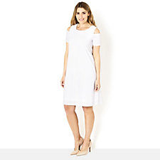 Ronni Nicole Cold Shoulder Swing Dress