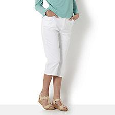 Denim & Co. Stretch Twill 5 Pocket Capri Jeans