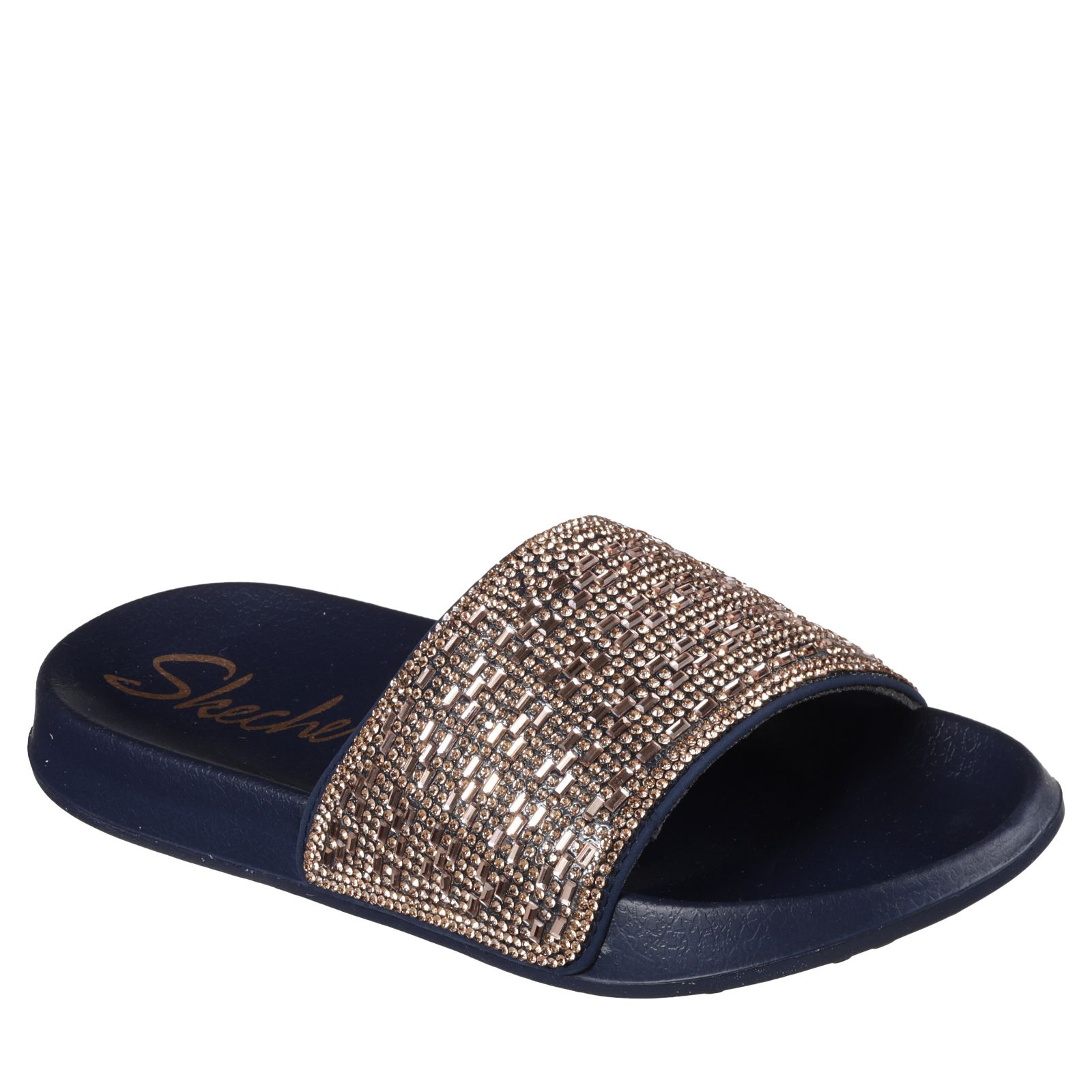 cc1cba1f40b1 Skechers 2nd Take Summer Chic Rhinestone Slide Sandal - QVC UK