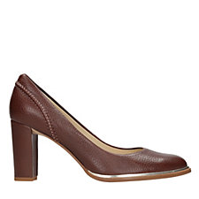 Clarks Ellis Edith Leather Court Shoe Standard Fit