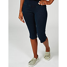 Women with Control Tummy Control Prime Stretch Denim Pedal Pushers Petite