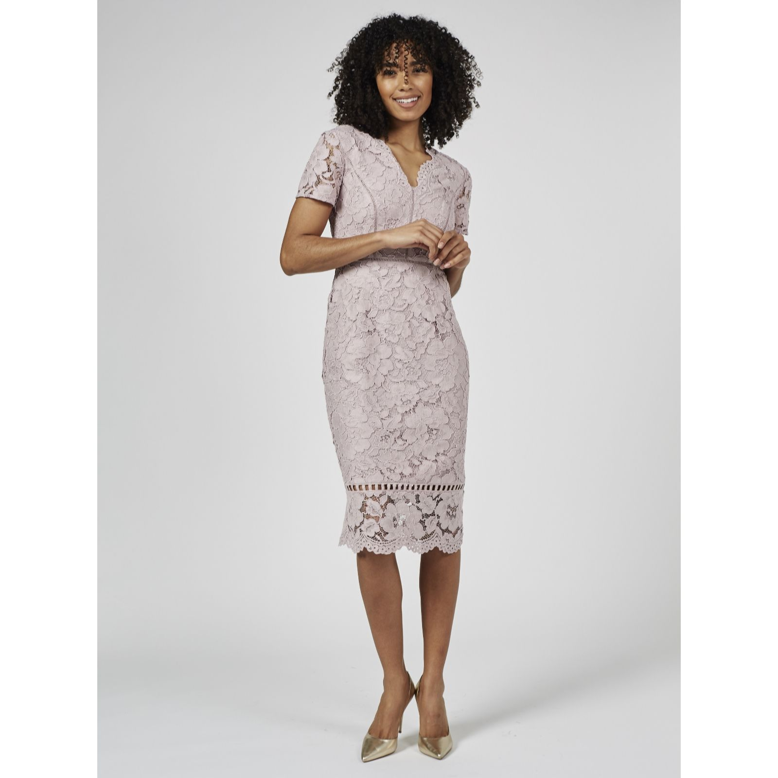 a5b8dea84c Phase Eight Trinity Corded Lace Dress - QVC UK