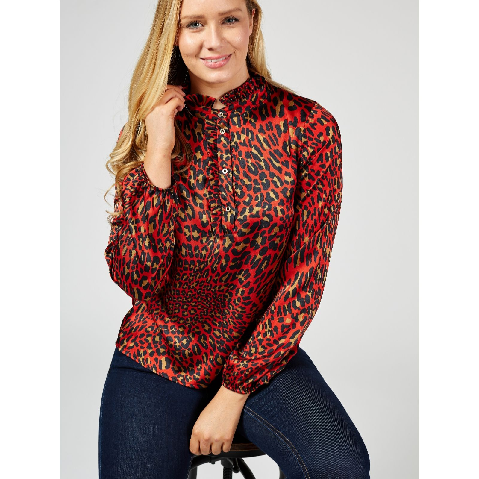 e942efa9fb9407 Damsel In A Dress Aimee Animal Print Blouse - QVC UK