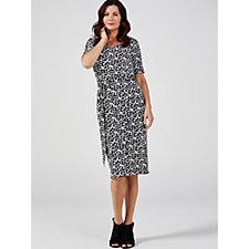 Ruth Langsford V Neck Mock Wrap Dress