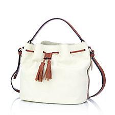 Smith & Canova Leather Duffle Bag with Crossbody Strap