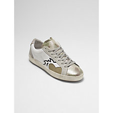 Bronx Soft Nappa Leather Camoflage Trainers
