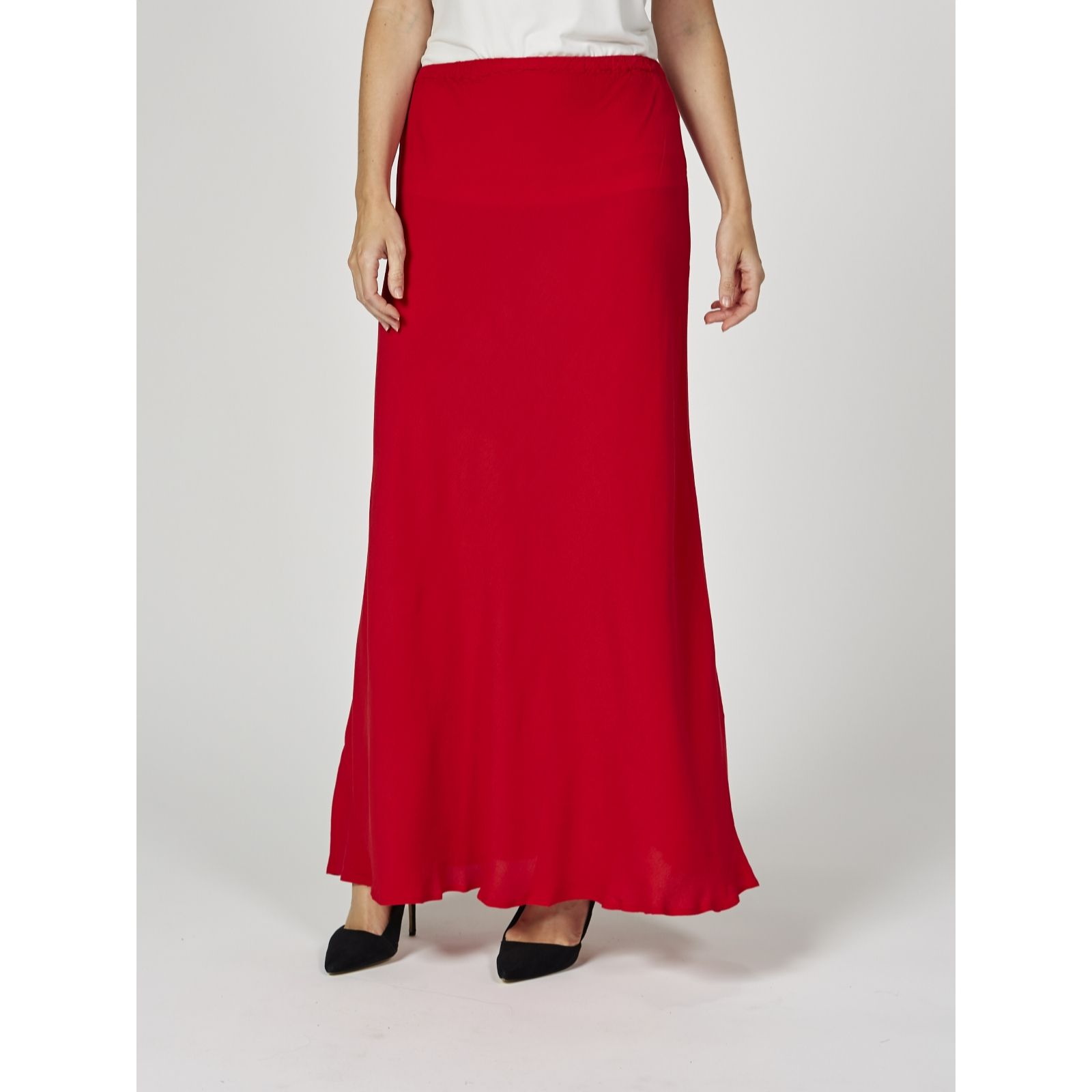 142932953e Ghost London Crepe Bias Cut Odelia Maxi Skirt - QVC UK