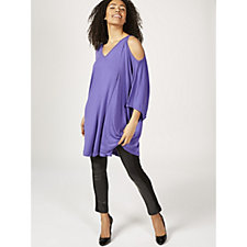 Join Clothes Cold Shoulder Dolman Sleeve Top