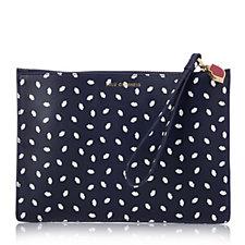Lulu Guinness Grace Medium Mini Lip Leather Clutch Bag