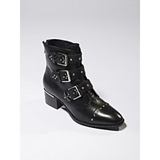 Bronx Vintage Suede Ankle Boot with Stud & Buckle Detail
