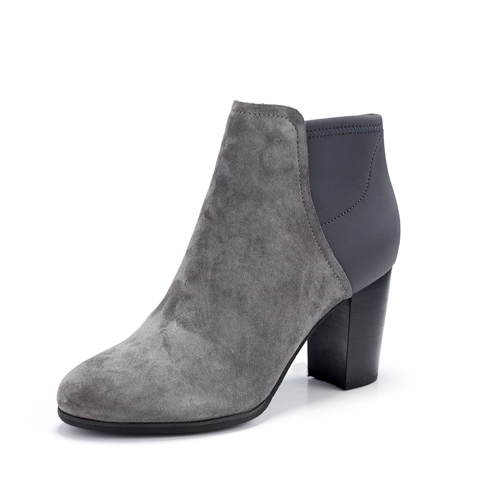 0cea66a08ee Vionic Orthotic Perk Whitney Mixed Fabric Ankle Boot w/ FMT Technology -  QVC UK