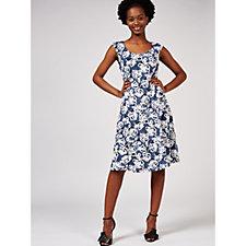 Ronni Nicole Sleeveless Printed Fit & Flare Dress