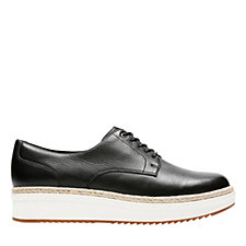 Clarks Teadale Rhea Flat Form Shoe Wide Fit