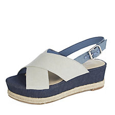 Marc Fisher Flama Cross Front Low Wedge Sandal