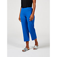 Women with Control Pull On Pintuck Detail Crop Trousers Regular