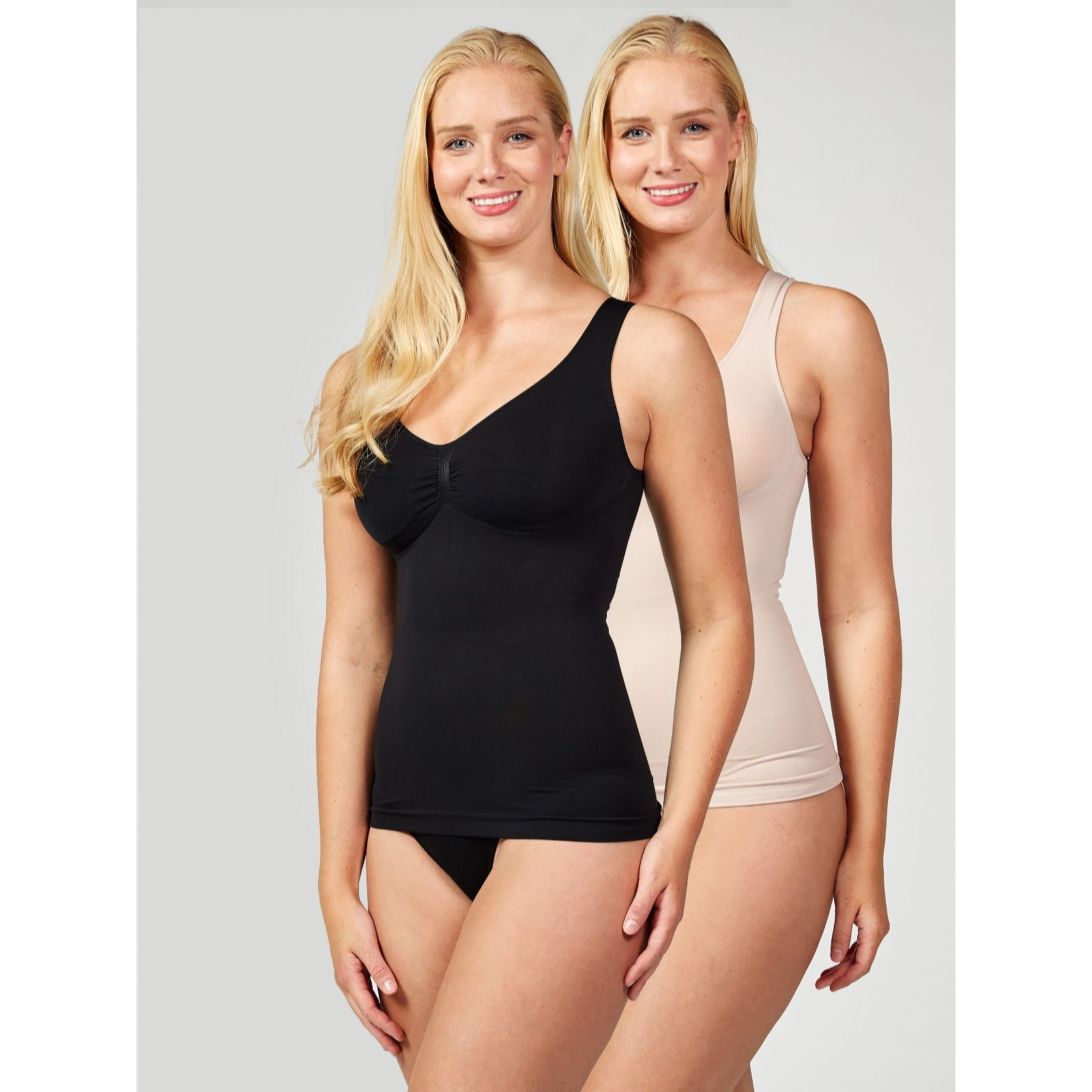 3513ff06ea3eb Vercella Vita Medium Control Essentials Cami Pack of 2 - QVC UK