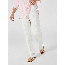 Kim & Co Milano Knit Pin Tuck Regular Trousers