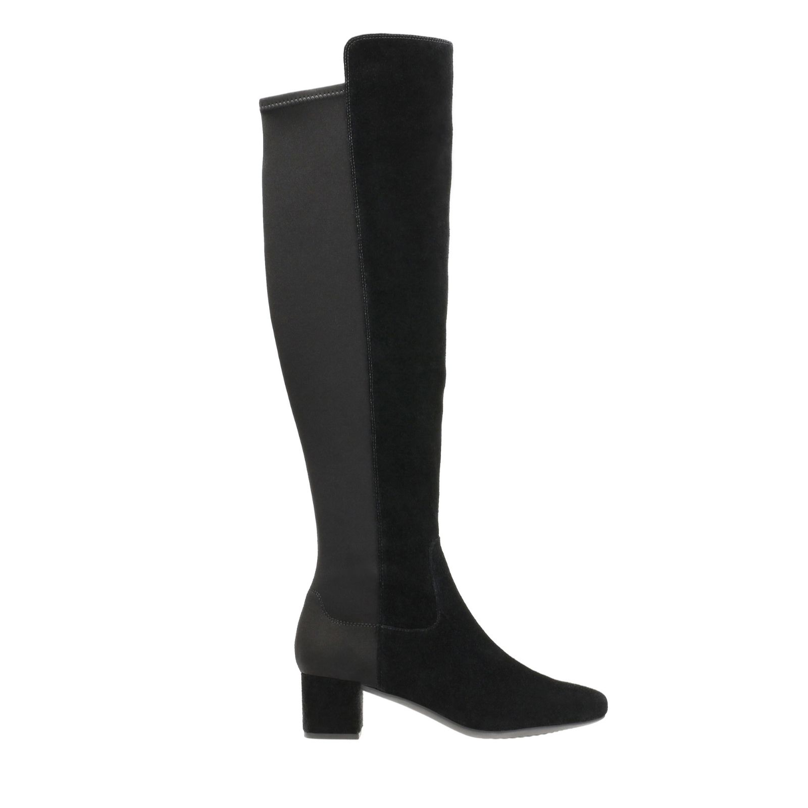 4a0a84e3372 Clarks Tealia Over the Knee Boot with Block Heel - QVC UK