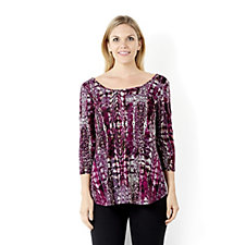 Outlet Attitudes by Renee Animal Printed Jacquard Tunic