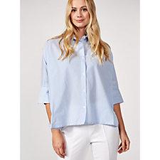 Yong Kim Dolman Sleeve Stripe Shirt