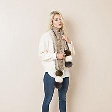 Pia Rossini Elisha Scarf with Faux Fur Bobble 1cce4d3e3411