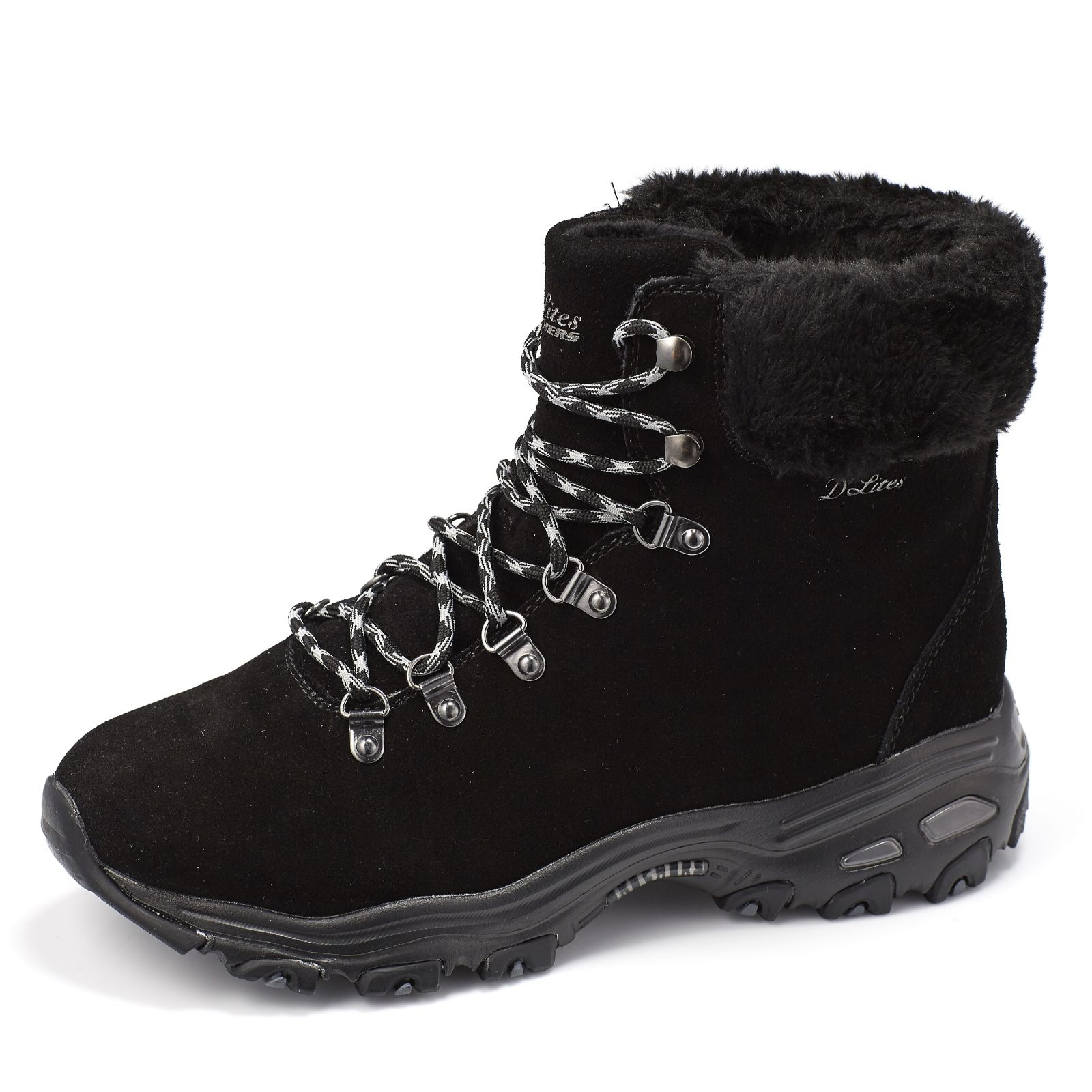 search for official compare price top-rated latest Skechers D'Lites Alps Mid Height Lace Up Hiking Boot - QVC UK