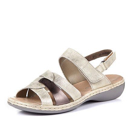 Rieker Gold Metallic Strap Sandal