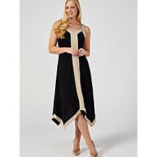 MarlaWynne Linen Jersey Handkerchief Hem Dress