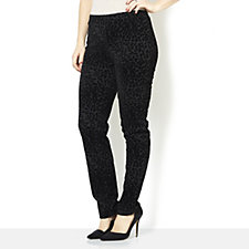 Women with Control Flocked Slim Leg Trousers