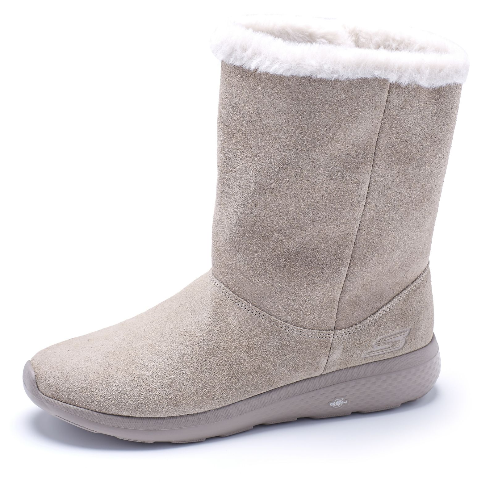 Skechers On the GO City 2 Suede Mid Calf Boot with Faux Fur Lining QVC UK